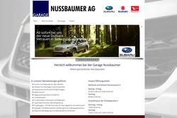 Bild Webseite garage-nussbaumer.ch