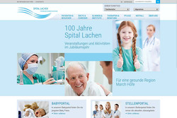 Bild Webeite spital-lachen.ch