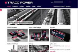 Bild Webseite tracopower.com