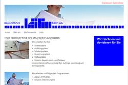 Ansicht Webseite bauzeichner.ag