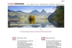 Bild Webseite genialsregional-sz.ch