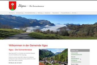 Ansicht der Webseite der Gemeinde Illgau