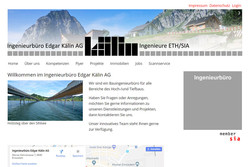 Ansicht Webseite Ingenieur Kälin AG