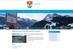 Ansicht Webseite Gemeinde Innerthal