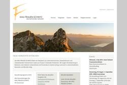 Ansicht Webseite KMU Frauen Schwyz
