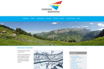 Ansicht der Webseite der Gemeinde Muotathal