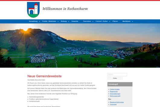Bild Webseite rothenthurm.ch