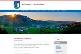Ansicht der Webseite der Gemeinde Rothenthurm
