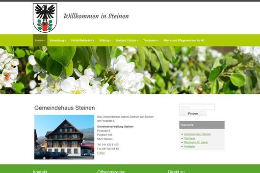 Bild Webseite steinen.ch
