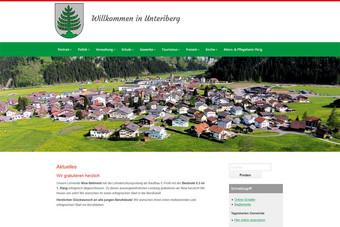 Ansicht der Webseite der Gemeinde Unteriberg