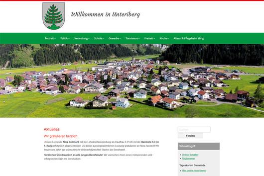 Bild Webseite unteriberg.ch