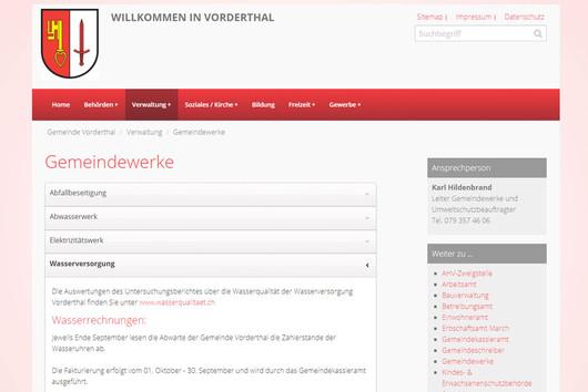 Bild Webseite vorderthal.ch