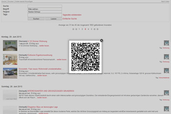 QR Code zu Inserat