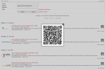 QR Code zur Nachricht