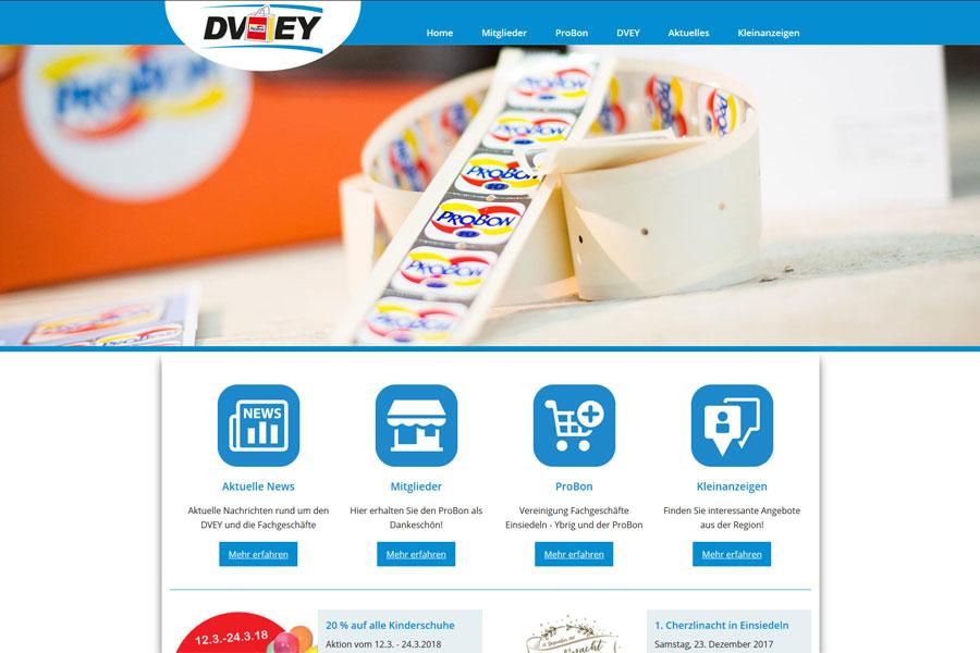 Ansicht Webauftritt dvey.ch