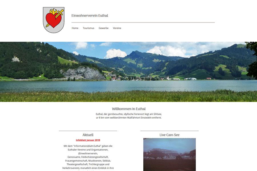 Ansicht Webauftritt euthal.ch