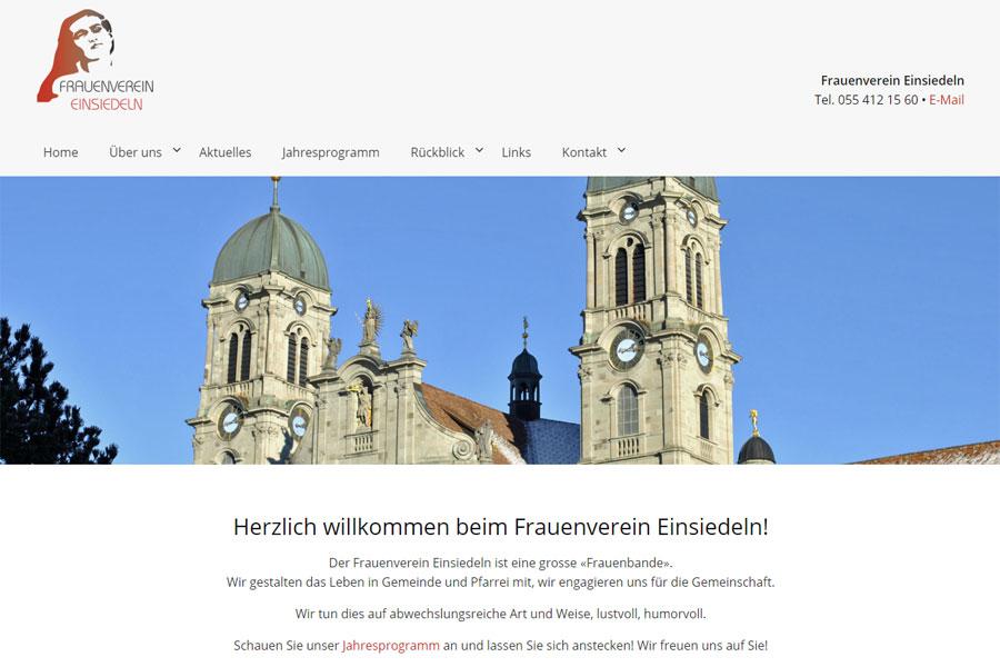 Ansicht Webauftritt Frauenverein Einsiedeln