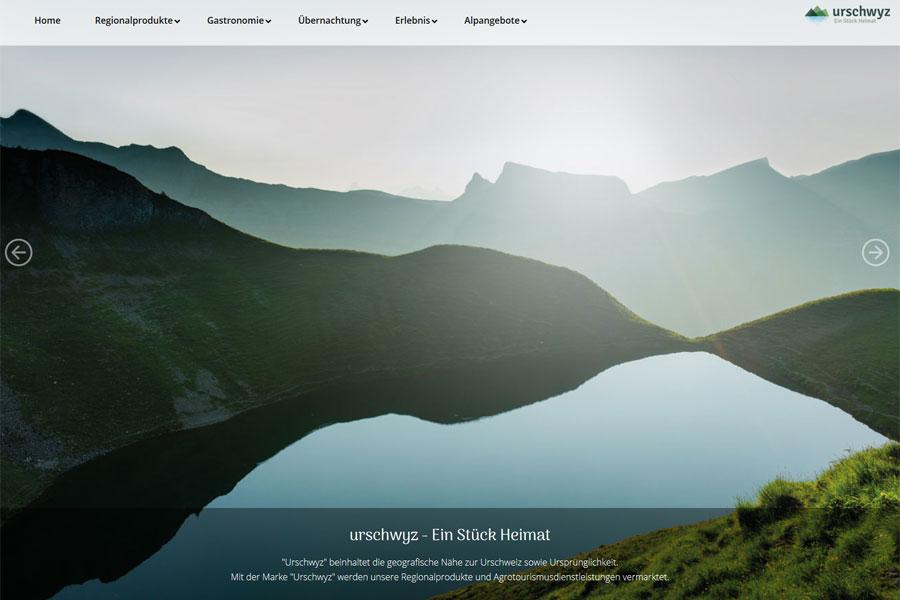 Ansicht Webauftritt urschwyz.ch